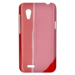 Red and pink lines HTC Desire VT (T328T) Hardshell Case