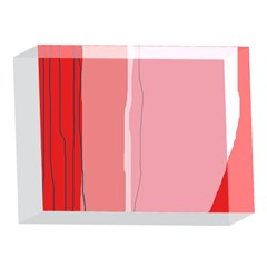 Red and pink lines 5 x 7  Acrylic Photo Blocks