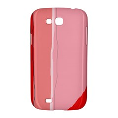Red and pink lines Samsung Galaxy Grand GT-I9128 Hardshell Case