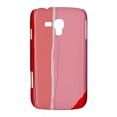 Red and pink lines Samsung Galaxy Duos I8262 Hardshell Case