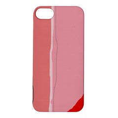 Red and pink lines Apple iPhone 5S/ SE Hardshell Case
