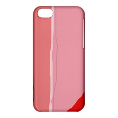 Red and pink lines Apple iPhone 5C Hardshell Case