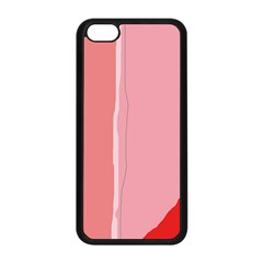 Red and pink lines Apple iPhone 5C Seamless Case (Black)