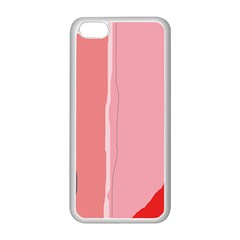 Red and pink lines Apple iPhone 5C Seamless Case (White)