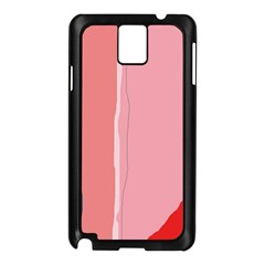 Red and pink lines Samsung Galaxy Note 3 N9005 Case (Black)