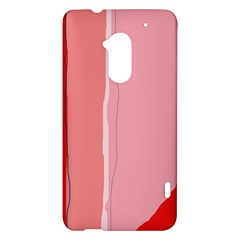 Red and pink lines HTC One Max (T6) Hardshell Case