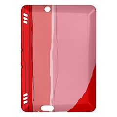 Red and pink lines Kindle Fire HDX Hardshell Case