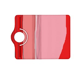 Red and pink lines Kindle Fire HD (2013) Flip 360 Case