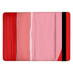 Red and pink lines Samsung Galaxy Tab Pro 12.2  Flip Case