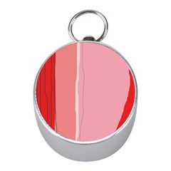 Red and pink lines Mini Silver Compasses