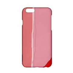 Red and pink lines Apple iPhone 6/6S Hardshell Case
