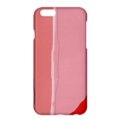Red and pink lines Apple iPhone 6 Plus/6S Plus Hardshell Case