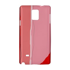 Red and pink lines Samsung Galaxy Note 4 Hardshell Case