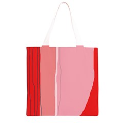 Red and pink lines Grocery Light Tote Bag