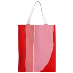 Red and pink lines Classic Light Tote Bag