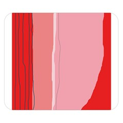 Red and pink lines Double Sided Flano Blanket (Small)