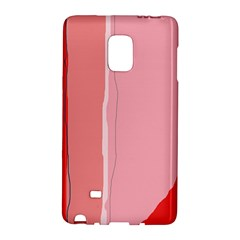Red and pink lines Galaxy Note Edge