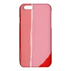 Red and pink lines iPhone 6/6S TPU Case