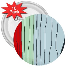 Decorative lines 3  Buttons (10 pack)