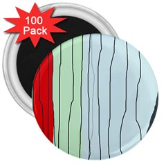 Decorative lines 3  Magnets (100 pack)
