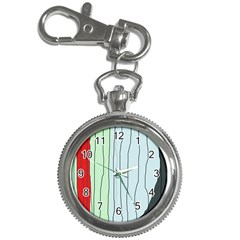 Decorative lines Key Chain Watches
