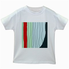 Decorative lines Kids White T-Shirts