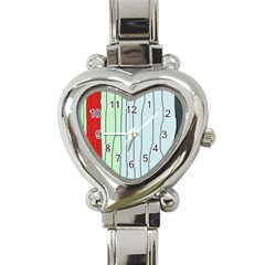 Decorative lines Heart Italian Charm Watch