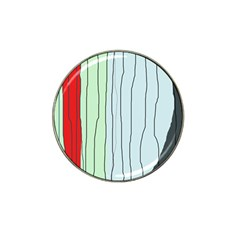 Decorative lines Hat Clip Ball Marker (4 pack)