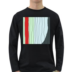 Decorative lines Long Sleeve Dark T-Shirts