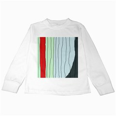 Decorative lines Kids Long Sleeve T-Shirts