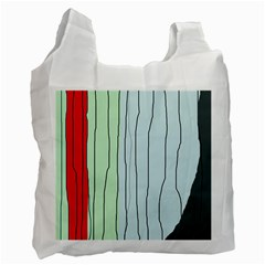 Decorative lines Recycle Bag (One Side)