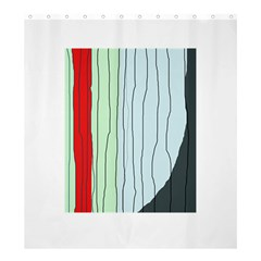Decorative lines Shower Curtain 66  x 72  (Large)