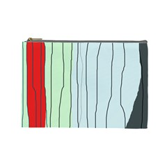 Decorative lines Cosmetic Bag (Large)