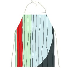 Decorative lines Full Print Aprons