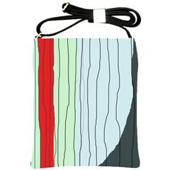 Decorative lines Shoulder Sling Bags