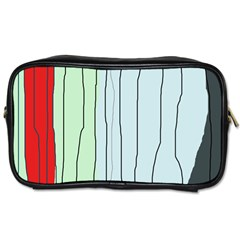 Decorative lines Toiletries Bags 2-Side