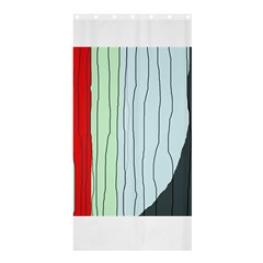 Decorative lines Shower Curtain 36  x 72  (Stall)