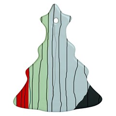 Decorative lines Christmas Tree Ornament (2 Sides)