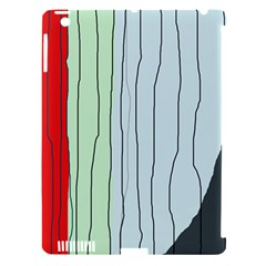 Decorative lines Apple iPad 3/4 Hardshell Case (Compatible with Smart Cover)