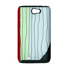 Decorative lines Samsung Galaxy Note 2 Hardshell Case (PC+Silicone)