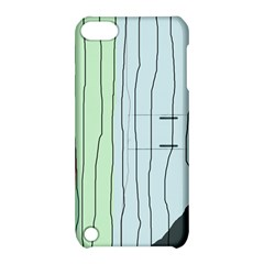 Decorative lines Apple iPod Touch 5 Hardshell Case with Stand