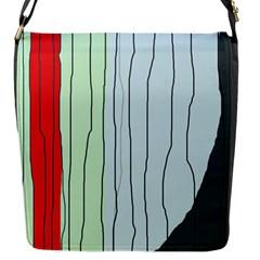 Decorative lines Flap Messenger Bag (S)