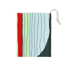 Decorative lines Drawstring Pouches (Medium)