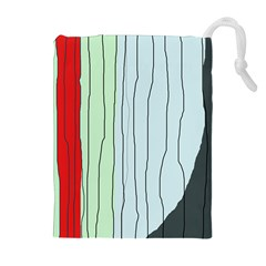 Decorative lines Drawstring Pouches (Extra Large)