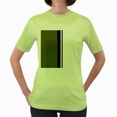 Elegant lines Women s Green T-Shirt