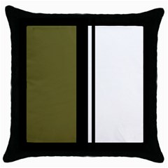 Elegant lines Throw Pillow Case (Black)