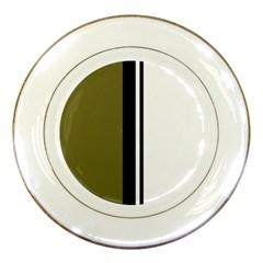Elegant lines Porcelain Plates