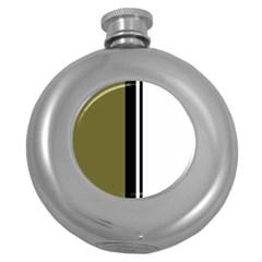 Elegant lines Round Hip Flask (5 oz)