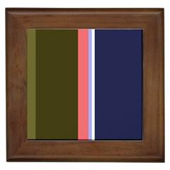 Decorative lines Framed Tiles