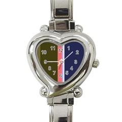 Decorative lines Heart Italian Charm Watch